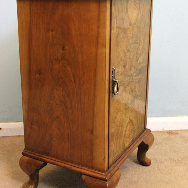 Antique Burr Walnut Side Cabinet ... - Antique Victorian, Georgian & Edwardian Furniture – The Antique Shop