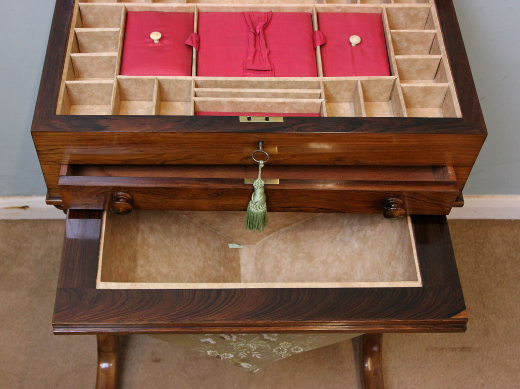 Victorian Rosewood Antique Sewing Table ... - Antique Victorian, Georgian & Edwardian Furniture – The Antique Shop