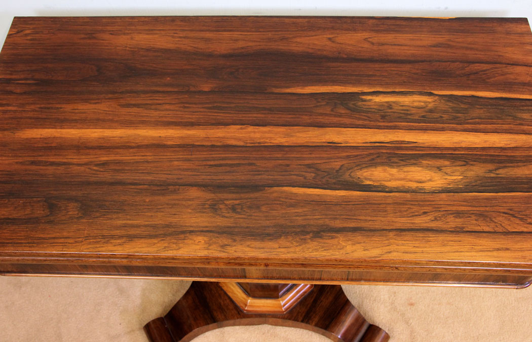 Victorian Antique Rosewood Fold Over Tea Table ... - Antique Victorian, Georgian & Edwardian Furniture – The Antique Shop