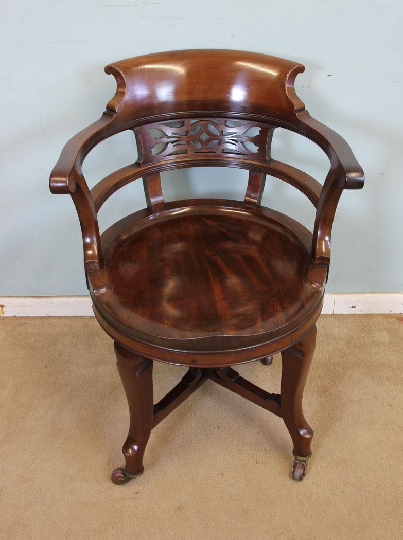 victorian office chair. Victorian Office Chair. Antique Mahogany Swivel Desk Chair A