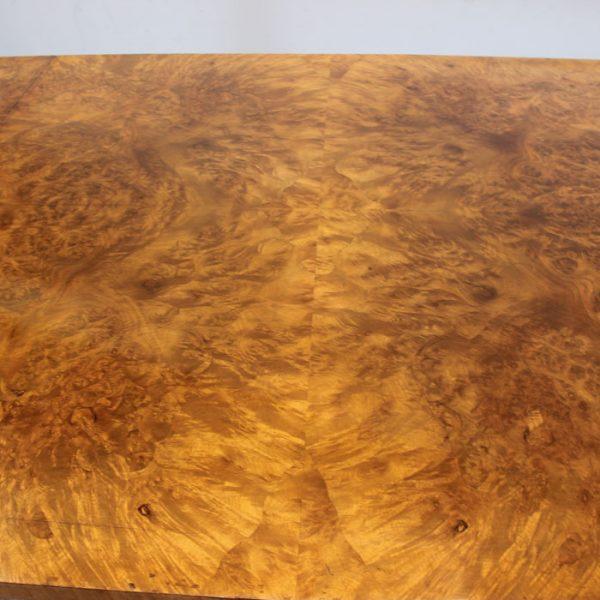 Antique Burr Walnut Pedestal Dining Table,