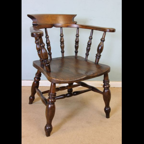 Antique Victorian Smokers Bow Armchair