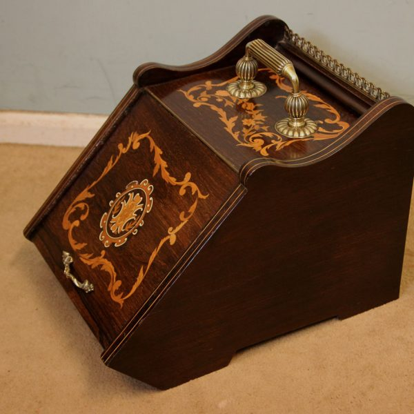 Antique Coal Box Scuttle.
