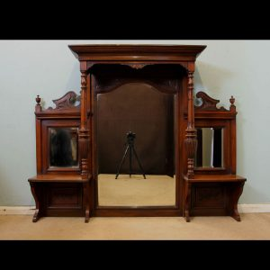 Antique Overmantle Victorian Mirror,